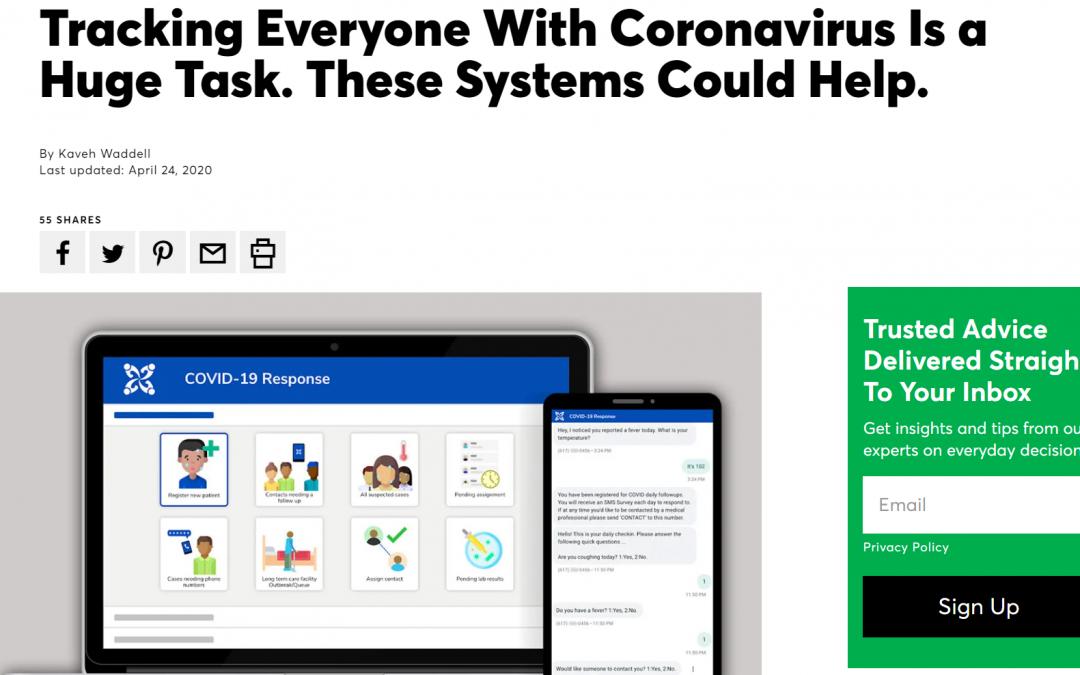 Tracking everyone with coronavirus is a huge task.