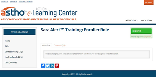Sara Alert Training: Enroller Role